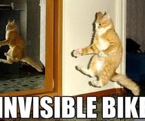 Unsichtbares Motorrad